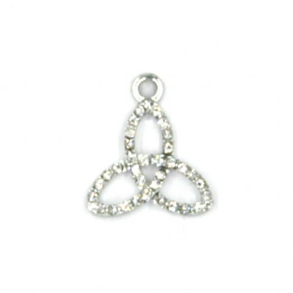 17mm x 20mm Triquetra charm set in crystal
